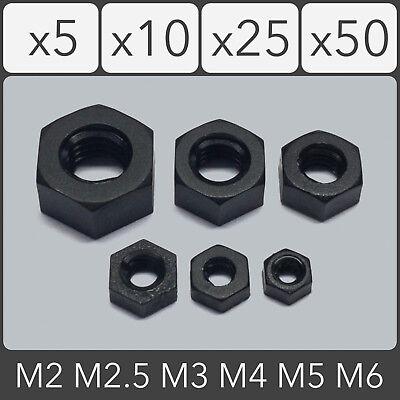 White Plastic Nylon Hexagon Nut Hex Nut M2,M2.5,M3,M4,M5,M6,M8,M10,M12 Black