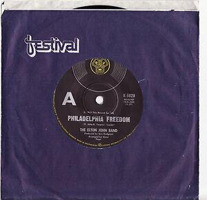 ELTON-JOHN-PHILADELPHIA-FREEDOM-Very-rare-1975-Aussie-Single-Release-M