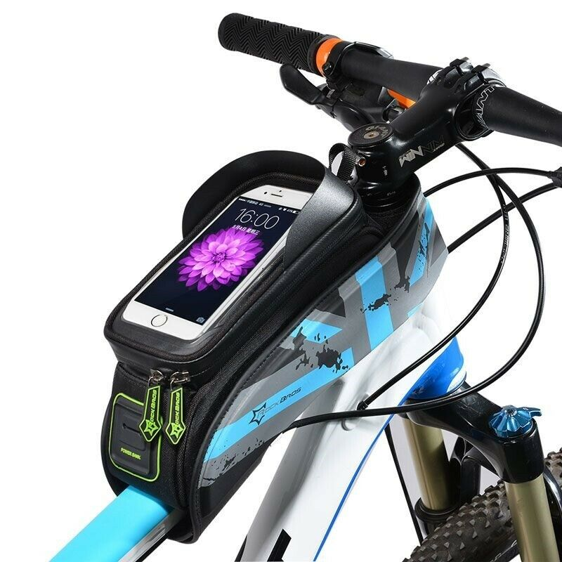Road Bicycle Bike Bags Rainproof Touch Screen Cycling Top Front Tube Frame Bags