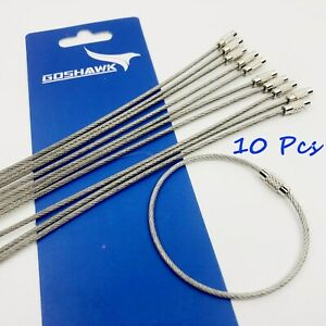10pcs-Stainless-Steel-Wire-Rope-Keychain-Key-Ring-Cable-For-Outdoor-Hiking-Sport