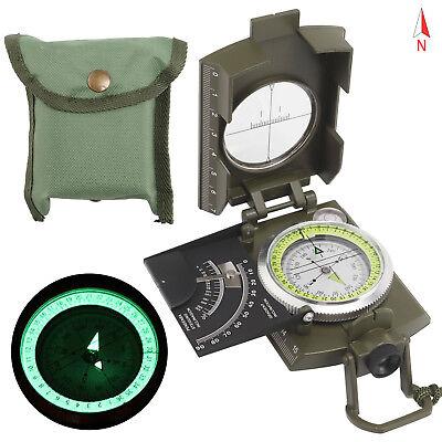 DE Professioneller Marschkompass Armeekompass mit Etui Kompass Metallgehäuse NEU