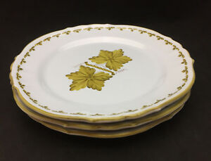 Image is loading AMN-Italy-Mustard-Leaf-Earthenware-Dinner-Plates-set- & AMN Italy Mustard Leaf Earthenware Dinner Plates (set of 3) | eBay