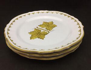 Image is loading AMN-Italy-Mustard-Leaf-Earthenware-Dinner-Plates-set- & AMN Italy Mustard Leaf Earthenware Dinner Plates (set of 3) | eBay