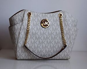 MICHAEL-KORS-Damen-Tasche-JET-SET-TRAVEL-vanilla-luggage-PVC-Leder-35F5GTVT3B