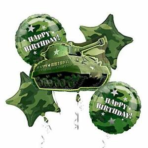 Details About Army Tank Camouflage Party Supplies Birthday Balloon Bouquet Decorations