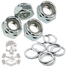 Skateboard Truck Axle Nuts & Speed Washers / Set of 4 nuts + 8 washers. - FP