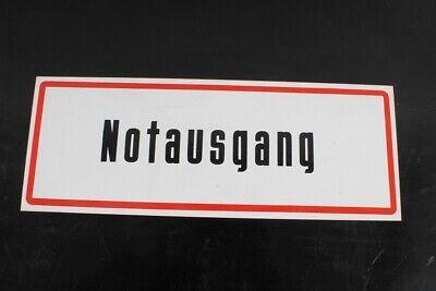 Hinweisschild Schild Notausgang Kennzeichnung Brandschutz 40cm X 14,8cm Hell Und Durchscheinend Im Aussehen