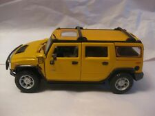 Hummer H2 SUV In A Yellow 127 Scale Diecast With Opening Doors From Maisto dc126