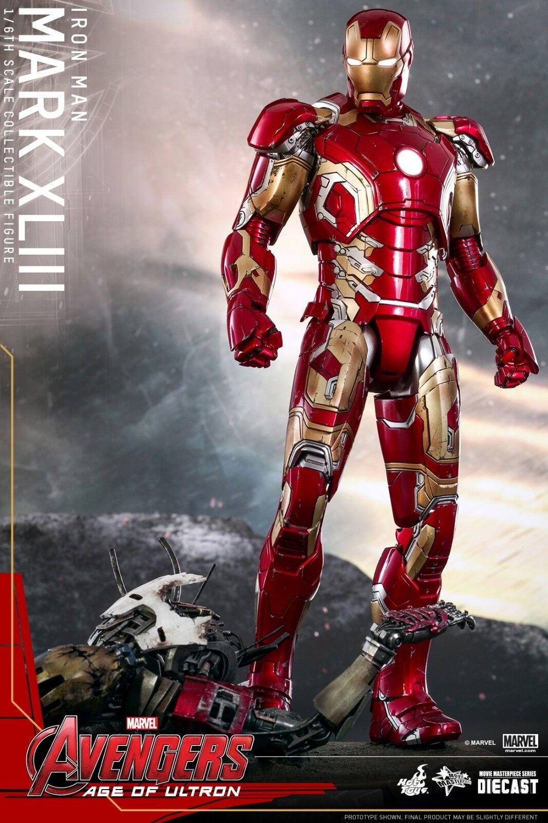 heta leksaker Avengers 2 Age of Ultron Iron Man Marke Xliii 43 1  6 Figur I Lager