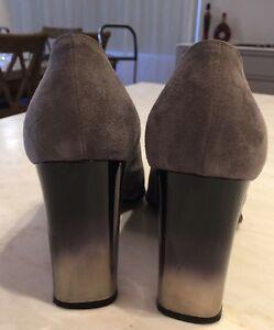 piano persecution color  Di Sandro Designer Grey Suede High Heeled Shoes, Size 8, Silver/grey Heels,  Sexy | eBay