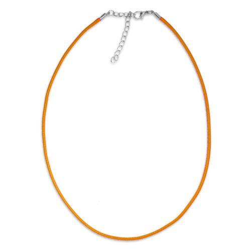 geflochtene Kette Band Halskette in vielen Farben grün orange gelb rot lila