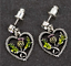 EARRINGS DRAGONFLY HEART,THISTLE ROSE GOLD DRAGONFLY BY EQUILIBRIUM CLADDAGH