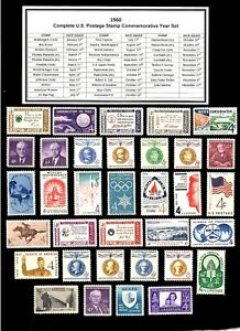 1960-COMPLETE-YEAR-SET-OF-MINT-NH-MNH-VINTAGE-U-S-POSTAGE-STAMPS