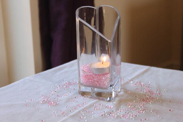 5000 x CLEAR & LIGHT PINK 4.5MM CHRISTENING DIAMOND CONFETTI TABLE DECORATION