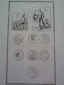 GRAVURE-ANCIENNE-D-039-EPOQUE-NEPTUNE-P-APIANUS-DIARIUM-ITALICUM-FORMAT-26-x-40-5-cm