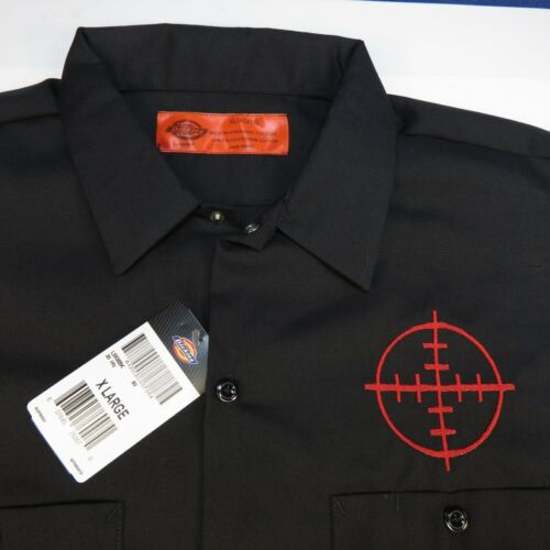 NEW NWT DICKIES EMBROIDERED GUN RIFLE SHOOTING SCOPE SITE MECHANIC WORK SHIRT