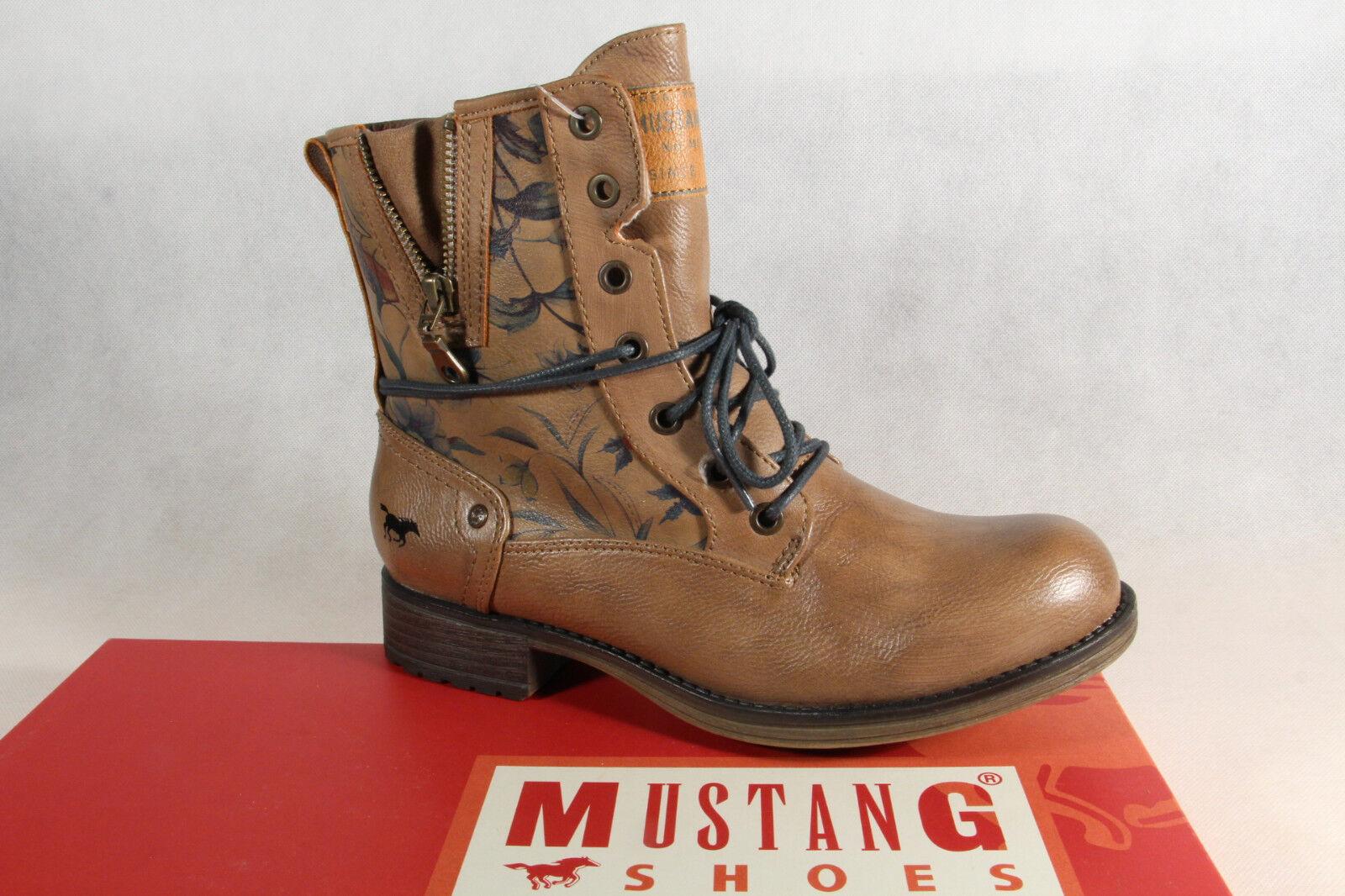 Mustang Botines botas de de de Cordón botas Natural Marrón 1139 Nuevo  el mejor servicio post-venta