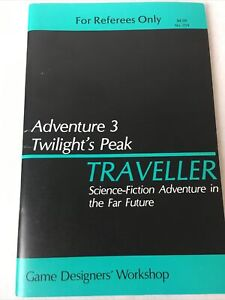 GDW-Classic-TRAVELLER-RPG-Adventure-3-Twilight-039-s-Peak-For-Referees-Only