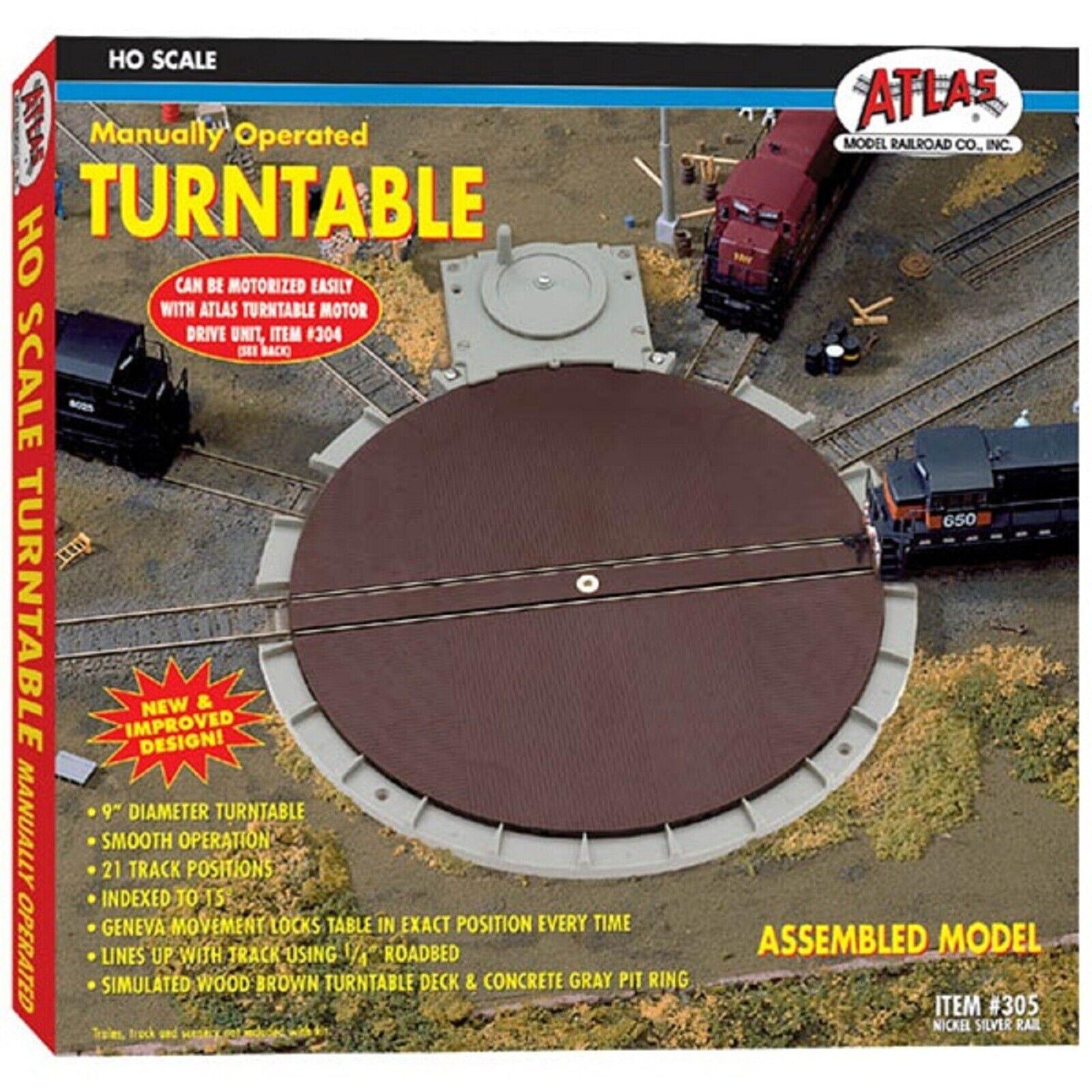 305 Plaque Tournante uomouelle Rail Train ATLAS HO 187