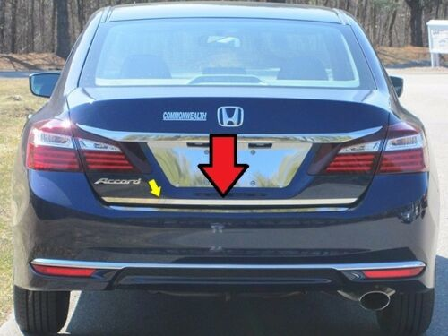 Fits Honda Accord 4DR 16-17 Stainless Polished Chrome Rear Deck Lower Trunk Trim
