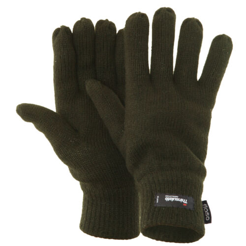 FLOSO Mens Thinsulate Knitted Winter Gloves GL184