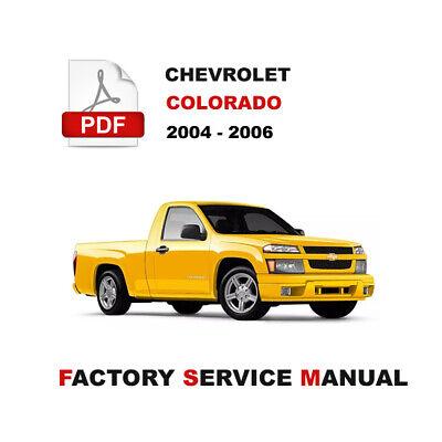 2004 - 2006 CHEVROLET COLORADO FACTORY SERVICE REPAIR MANUAL WITH WIRING  DIAGRAM   eBay   2004 Chevrolet Calorado 2 8 Wiring Diagram      eBay