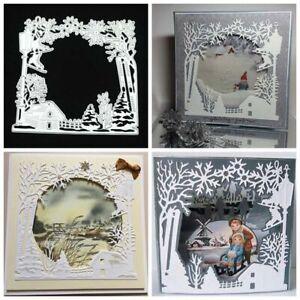 Snowflake-Frame-Metal-Cutting-Dies-Stencils-Scrapbooking-DIY-Album-Paper-Cards
