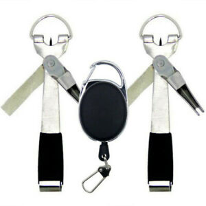 4 in1 Quick Knot Tying Tool Fly Fishing Clippers Line Cutter Nippers Snip Too/_ti