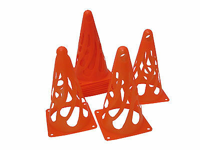 PACK OF 12 COLLAPSIBLE CONES TRAINING FOOTBALL SPORTS - RED