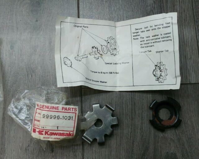 OEM KAWASAKI Front Sprocket Lockwasher /& Stopper Washer KZ1000J Police KZ1000R
