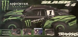 New-Sealed-Monster-Energy-Slash-4x4-Traxxas-R-C-Car-Special-Edition-from-Vault