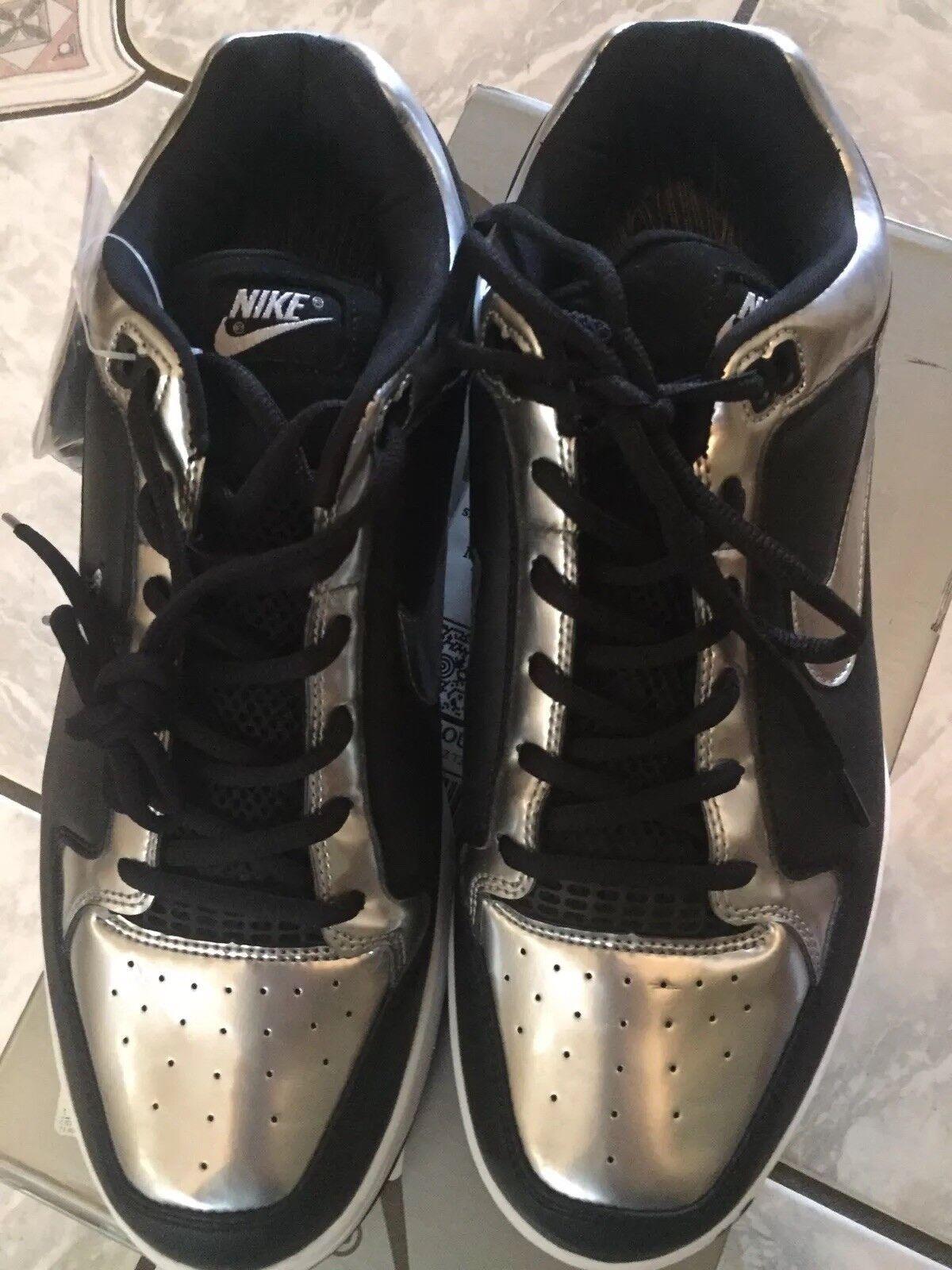 Nike zoom air angus scarpe uomo pennino nero / silver raiders pennino uomo milioni 7240e4