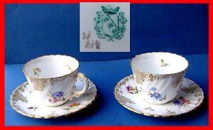 Coleccion-mocca-Taza-Platillo-Pintado-a-mano-FRANCE-Digoin-para-1890-G450