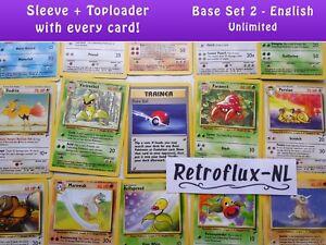 Base-Set-2-Unlimited-Common-Uncommon-Rare-Single-Pokemon-Cards-English