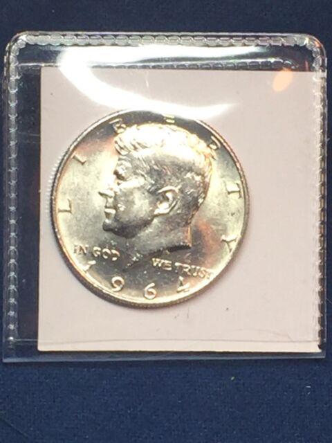 1964 50C Kennedy Half Dollar 90% SILVER - CIRCULATED- NICE COIN  Bundled Ship