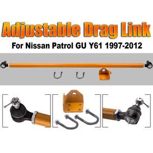 Adjustable-Drag-Link-Heavy-Duty-for-Nissan-Y61-GU-Patrol-4WD-Steering-Arm-Rod