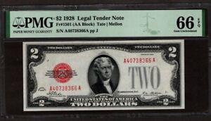 1928 $2 Legal Tender Note, PMG 66 EPQ, NICE!!
