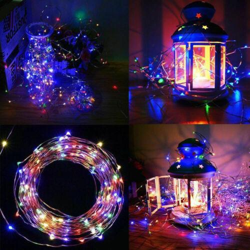 Outdoor Solar Fairy String Lights 100LED Copper Wire Waterproof Garden Decor33ft