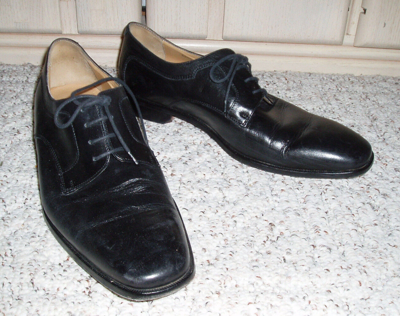 Men's MERCANTI FIORENTINI Genuine Leather Oxford Dress shoesBlack10.5 M