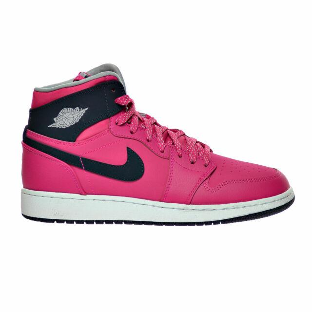 nowa wysoka jakość różne kolory bardzo tanie Air Jordan 1 Retro High GG Big Kid's Shoes Pink-Obsidian-Grey-White  332148-609