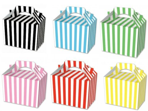 35 Stripe Striped Food Boxes Picnic Lunch Gift Box Wedding Favour Birthday Party