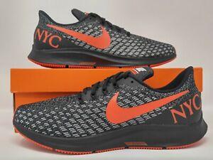cheaper 0bc46 877e9 Details about Nike Air Zoom Pegasus 35 NYC Marathon Black Habanero Red Grit  Running BV5484-001