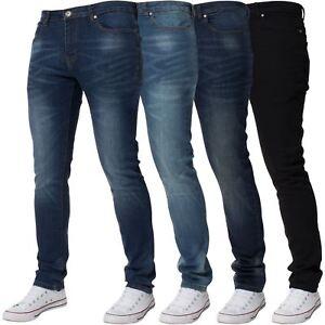 Kruze-Mens-Skinny-Stretch-Jeans-Slim-Fit-Flex-Denim-Trousers-Pants-All-Waists