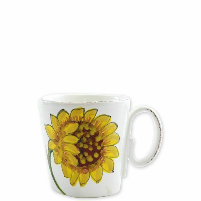 Vietri Lastra Tournesol Mug-Lot de 8