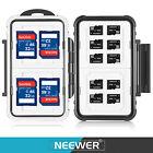 Neewer 14 Slots Memory Card Case Holder Waterproof Storage Cards Box