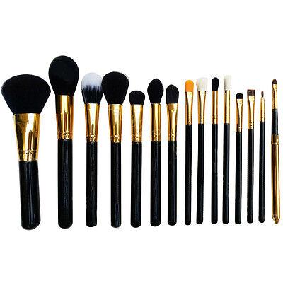 15Pcs Makeup Brushes Pro Cosmetic Make Up Brush Set Superior Soft GOCG