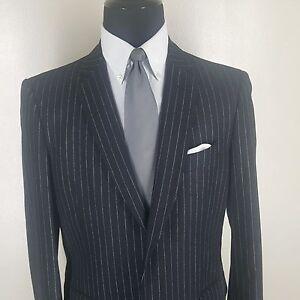 775abada7c454 JOHN VARVATOS Made In Italy Black Stripe Wool &Cashmere Sport Coat 2 ...