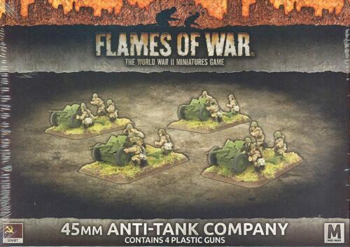 Flames of War Russian 45mm Anti-Tank Company 4 Guns SBX47 Battlefront
