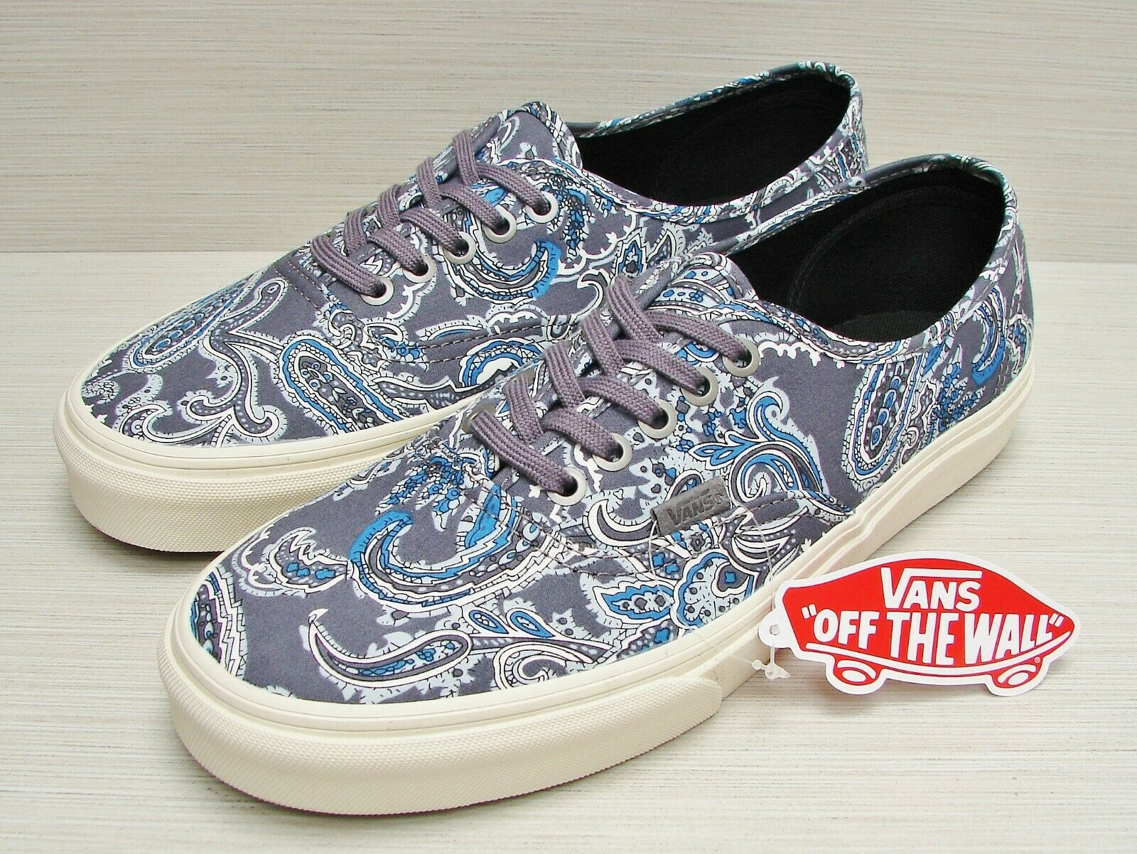 9d1010587f Vans Authentic CA (Paisley) Charcoal VN-000ZUII2T Men s Size 13 ...