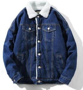 Fleece-Lined-Winter-Warm-Coat-Denim-Jacket-Fur-Collar-Tops-Outwear-Men-Fashion